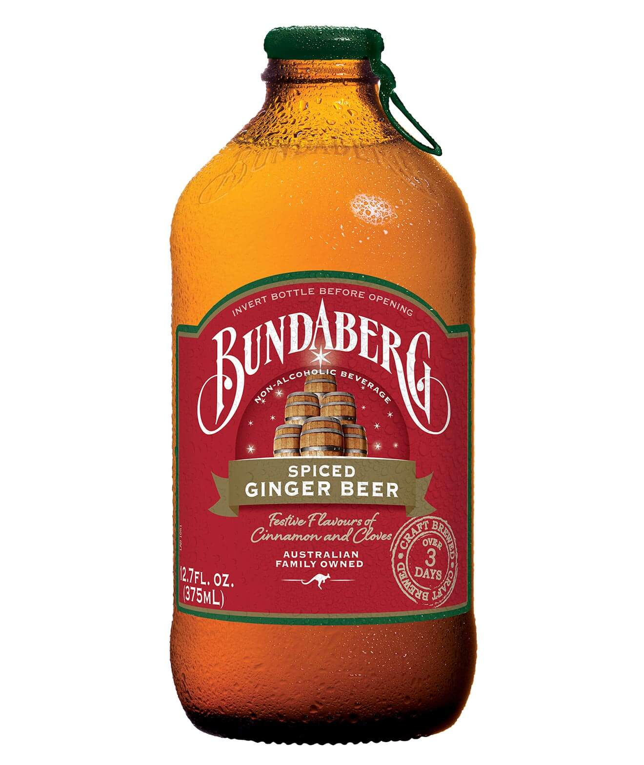 Bundaberg Limited Release Spiced Ginger Beer, bottle