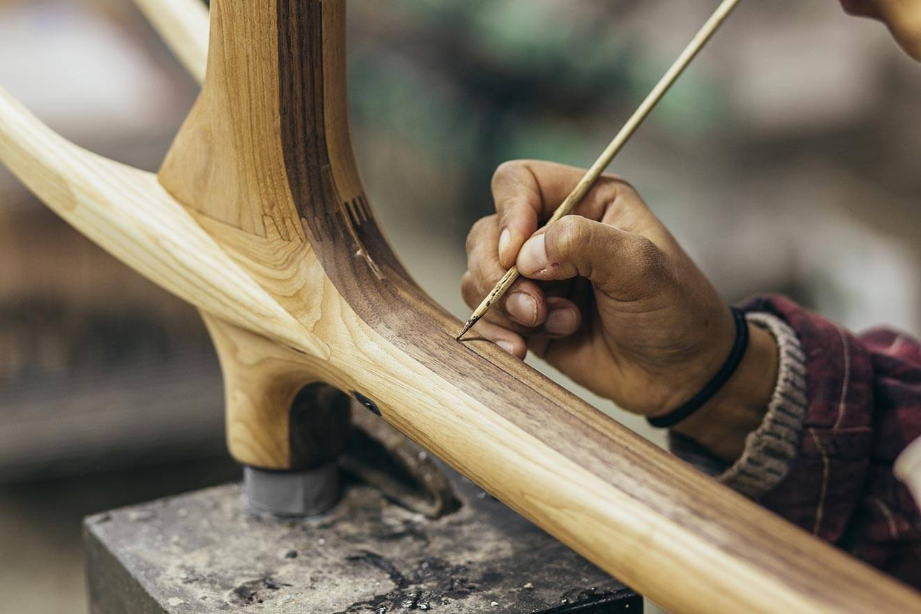 Close Up Frame Being Crafted