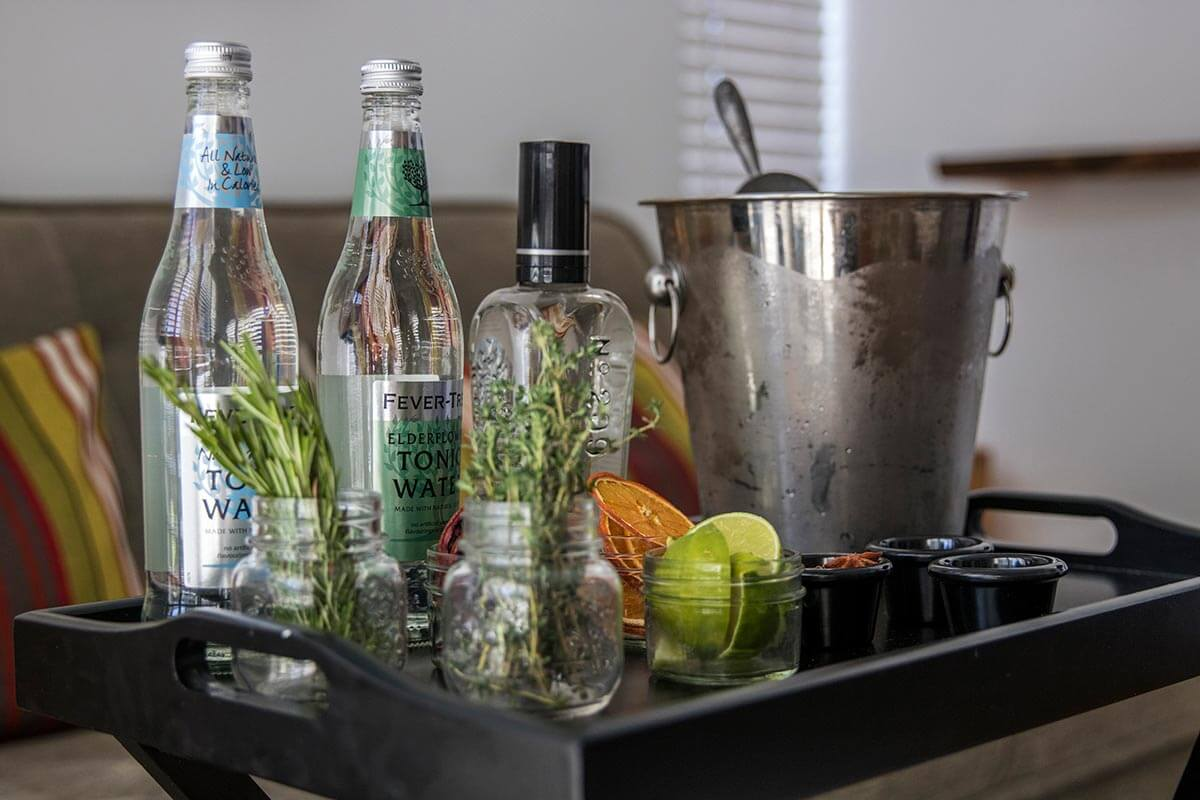 Gin & Tonic Bar Cart