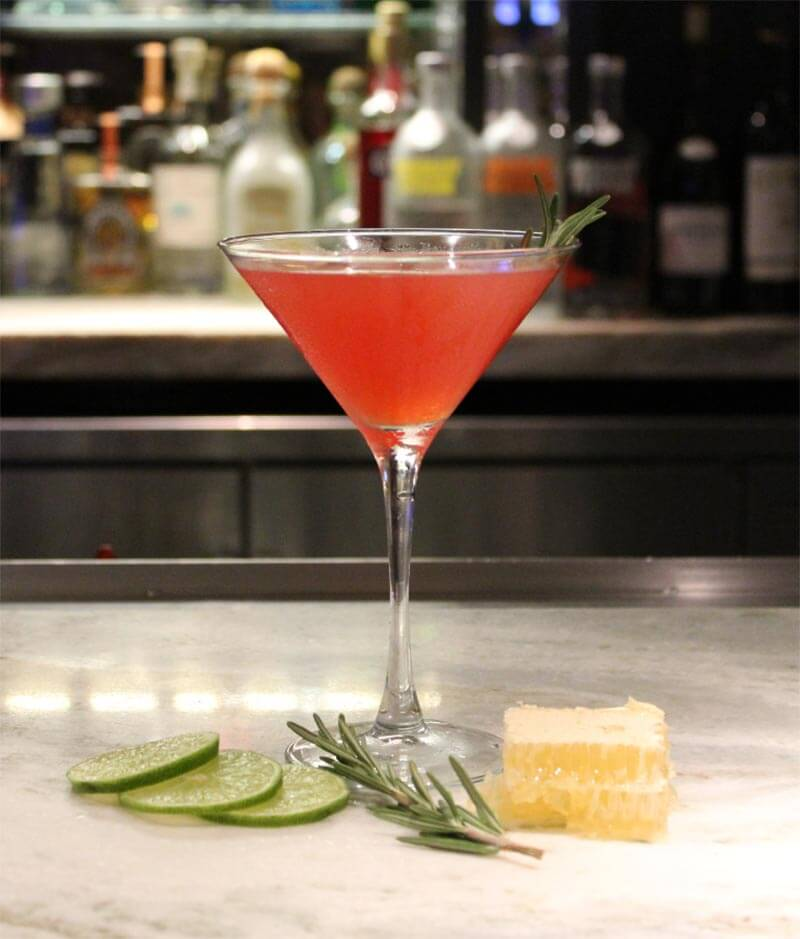 Honey-Kissed Cosmopolitan cocktail
