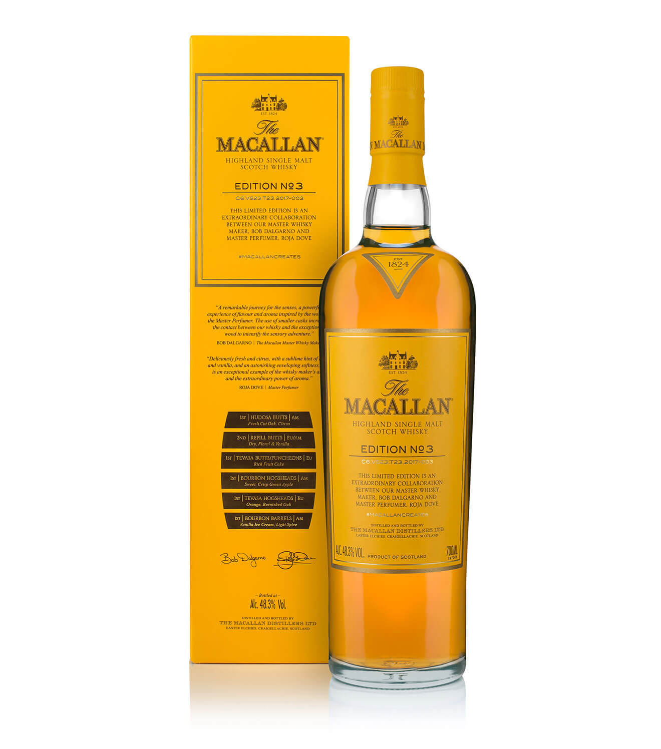 The Macallan Edition No. 3, Bottle and Packaging