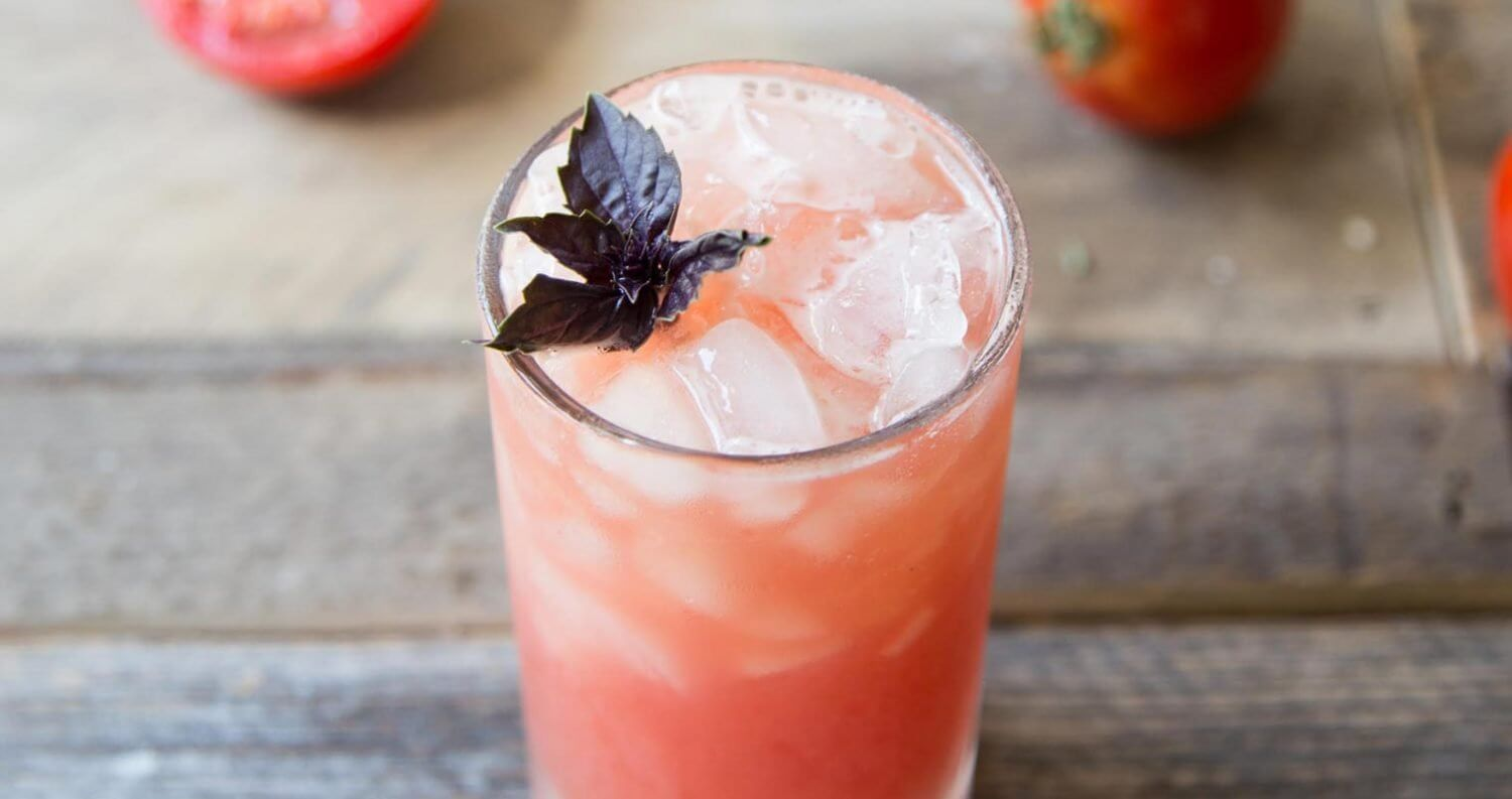 Tomato Purple Basil Vodka Cooler, featured image