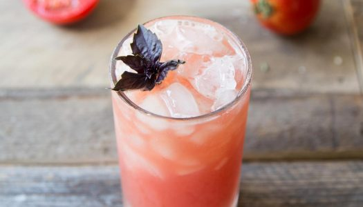 Chilled Drink of the Week: Tomato Purple Basil Vodka Cooler
