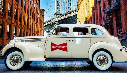 Budweiser Launches New Amber Lager and Antique Lyft Cars