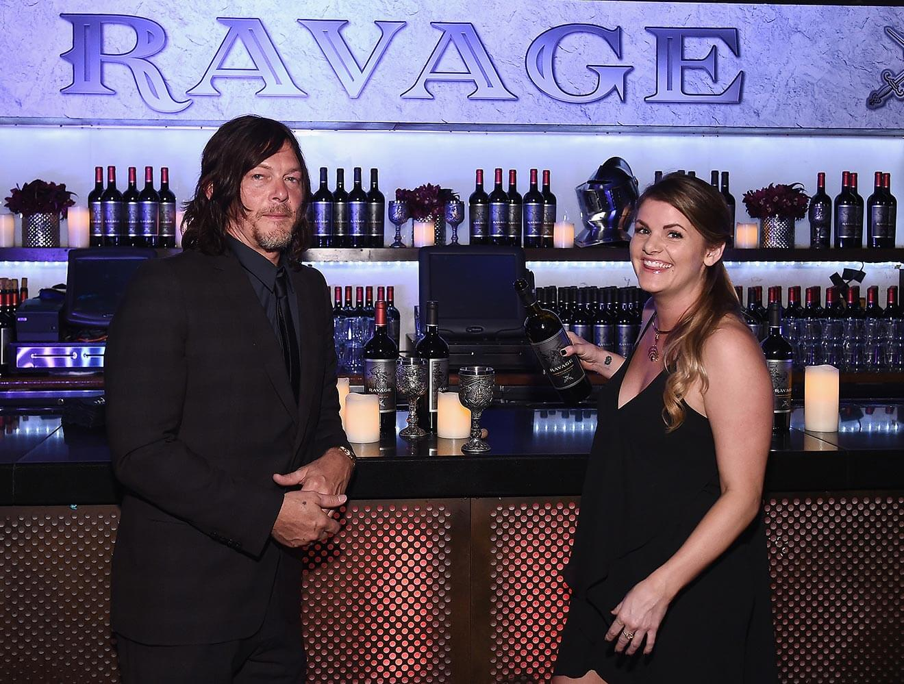 Norman Reedus and Winemaker Bryce Willingham at Ravage Bar for Comic Con Heroes After Dark