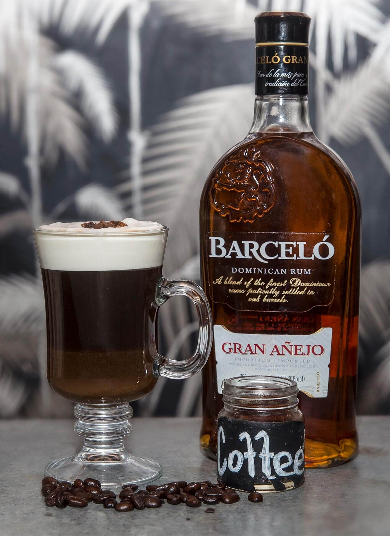 Pumpkin Spiced Dominican Coffee, cocktail and bottle
