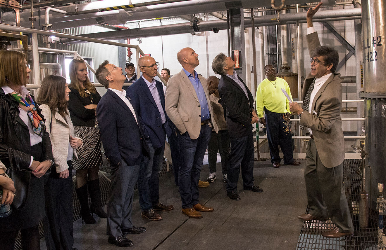 Heaven Hill Distillery Dedicates Largest Single-Site Bourbon Distillery in American Whiskey, facility tour
