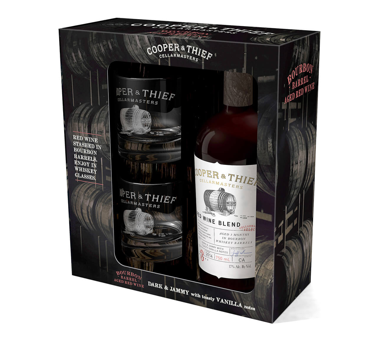 Cooper & Thief 2014 Red Blend Holiday Gift Pack, on white