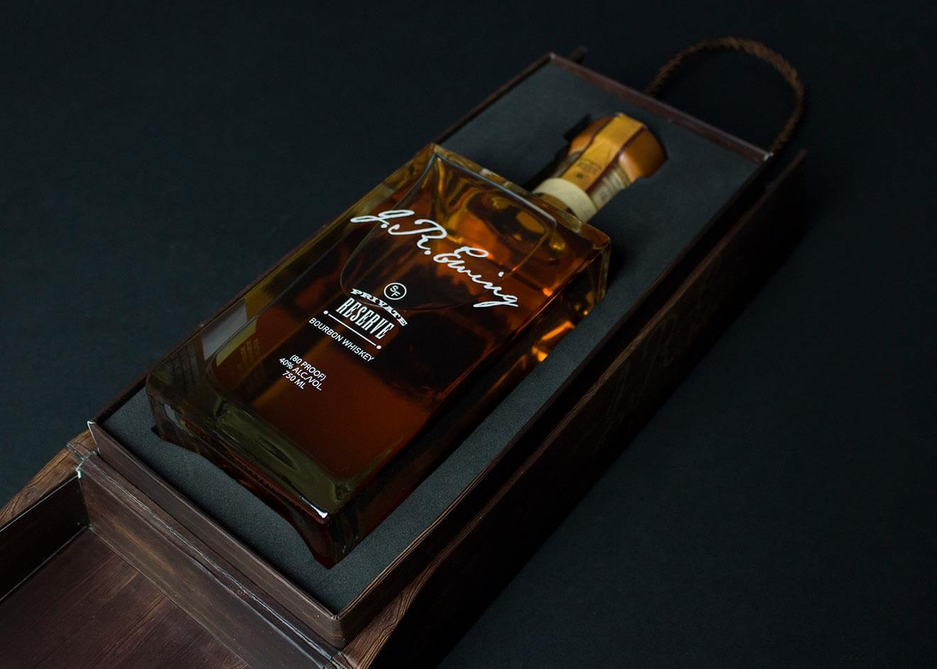 J.R. Ewing Bourbon Limited Edition Holiday Packaging