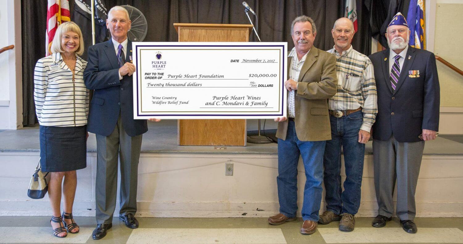 Wildfire Relief Check Presentation, featured image