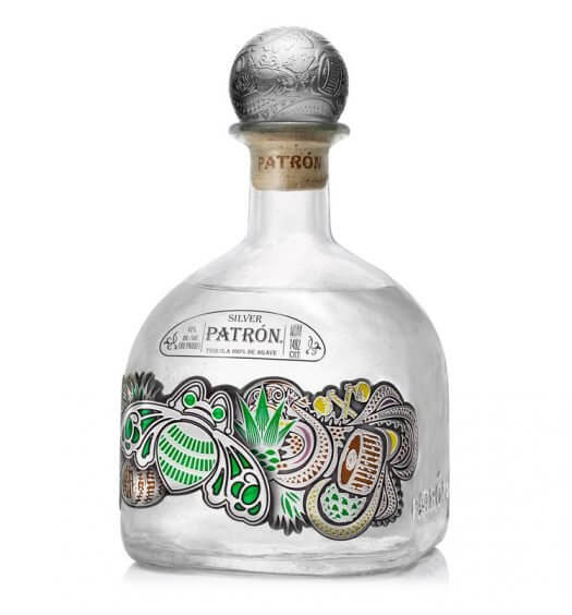 Patrón Silver One-Liter Limited-Edition Bottle, on white featured image