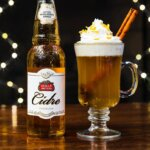 Stella Artois Warm Apple Cidre, bottle and glass, featured image