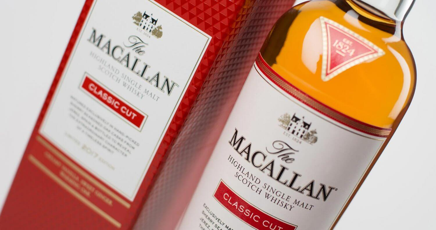The Macallan Classic cut, bottle and packaging, featured image