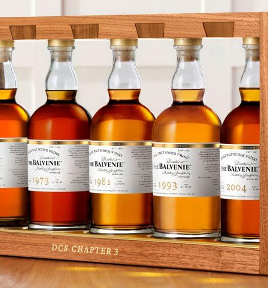The Balvenie DCS Compendium Chapter Three Whiskies, bottle display in frame