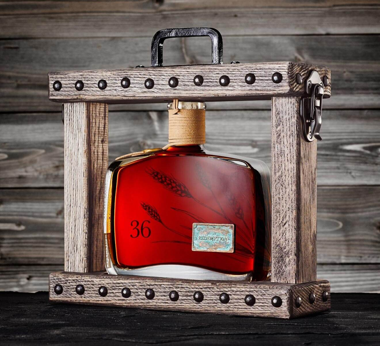 Redemption 36-Year-Old Bourbon, bottle and packaging