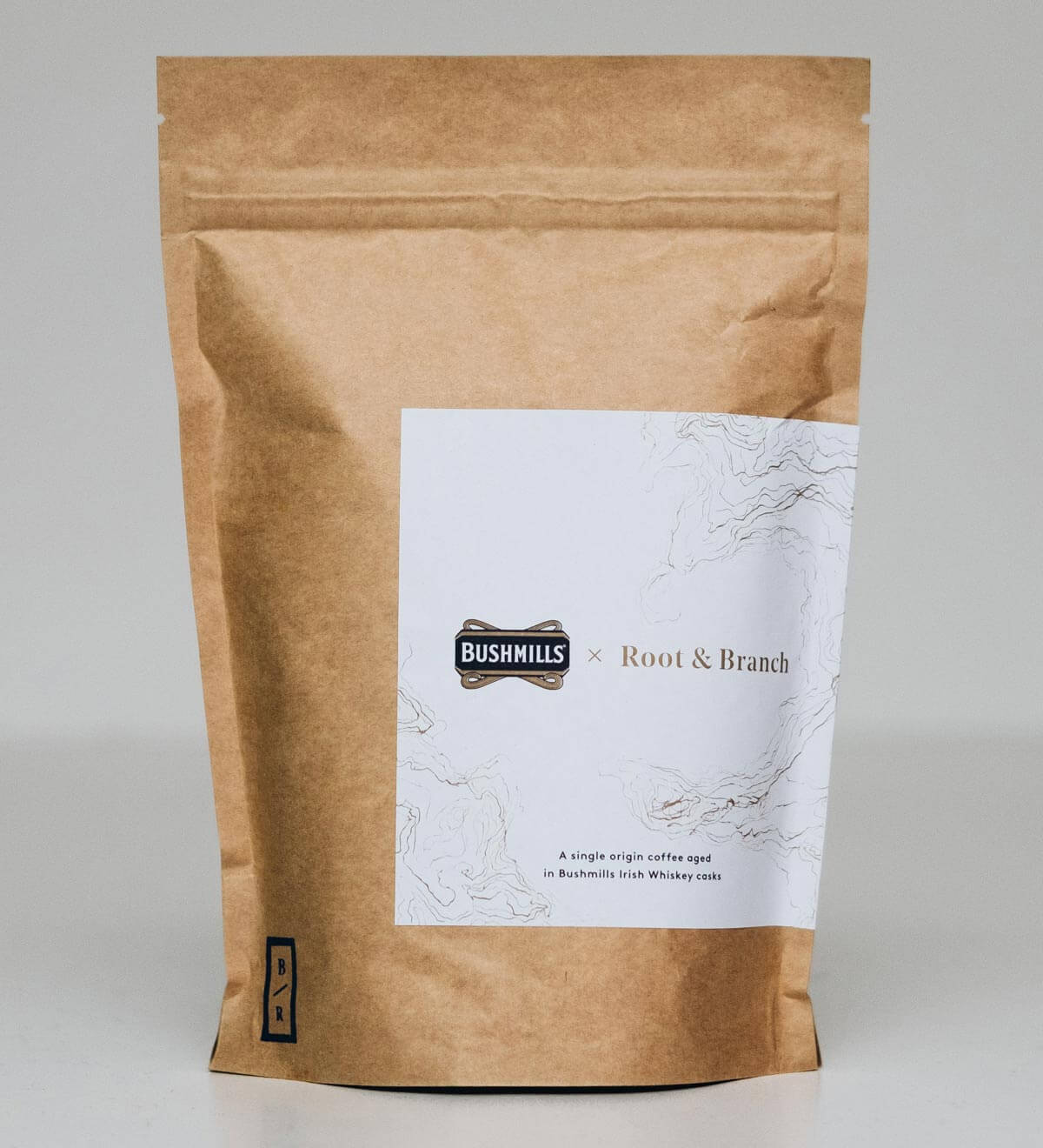 Bushmills and Root and Branch Coffee Pack, packaging