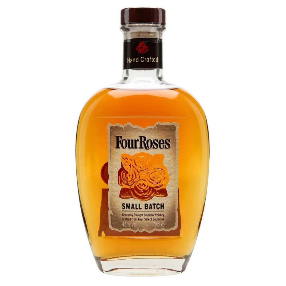 Four Roses Small Batch, bottle on white