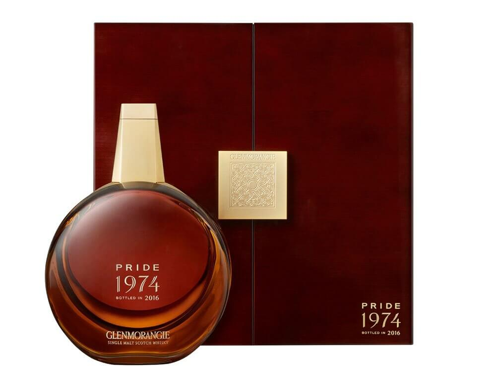 Glenmorangie Pride 1974, bottle and package