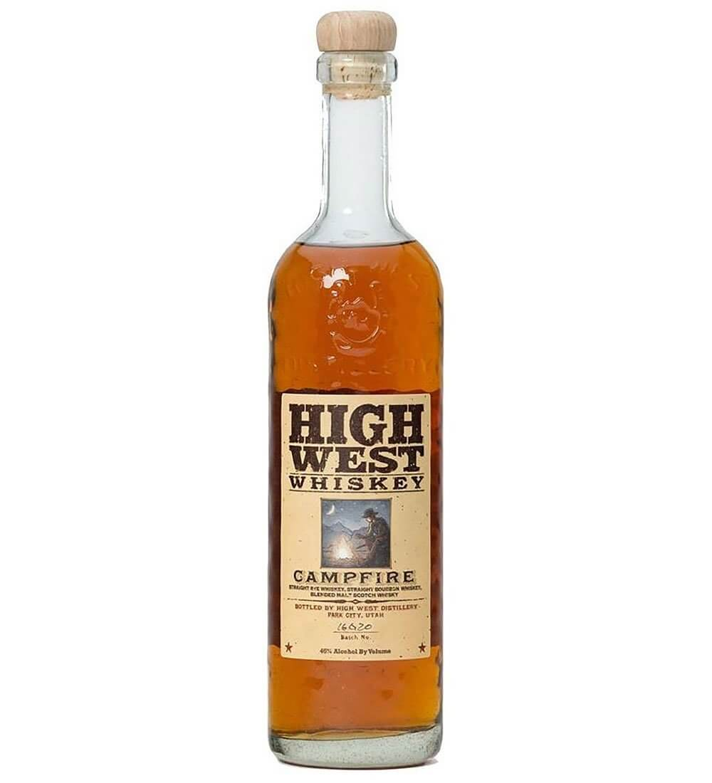 High West Campfire, bottle on white