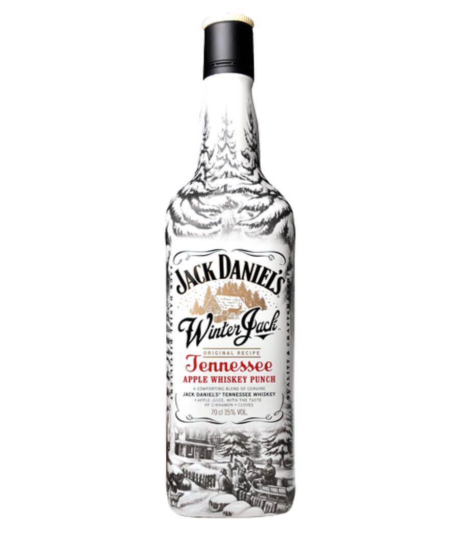 Jack Daniel's Winter Jack bottle on white