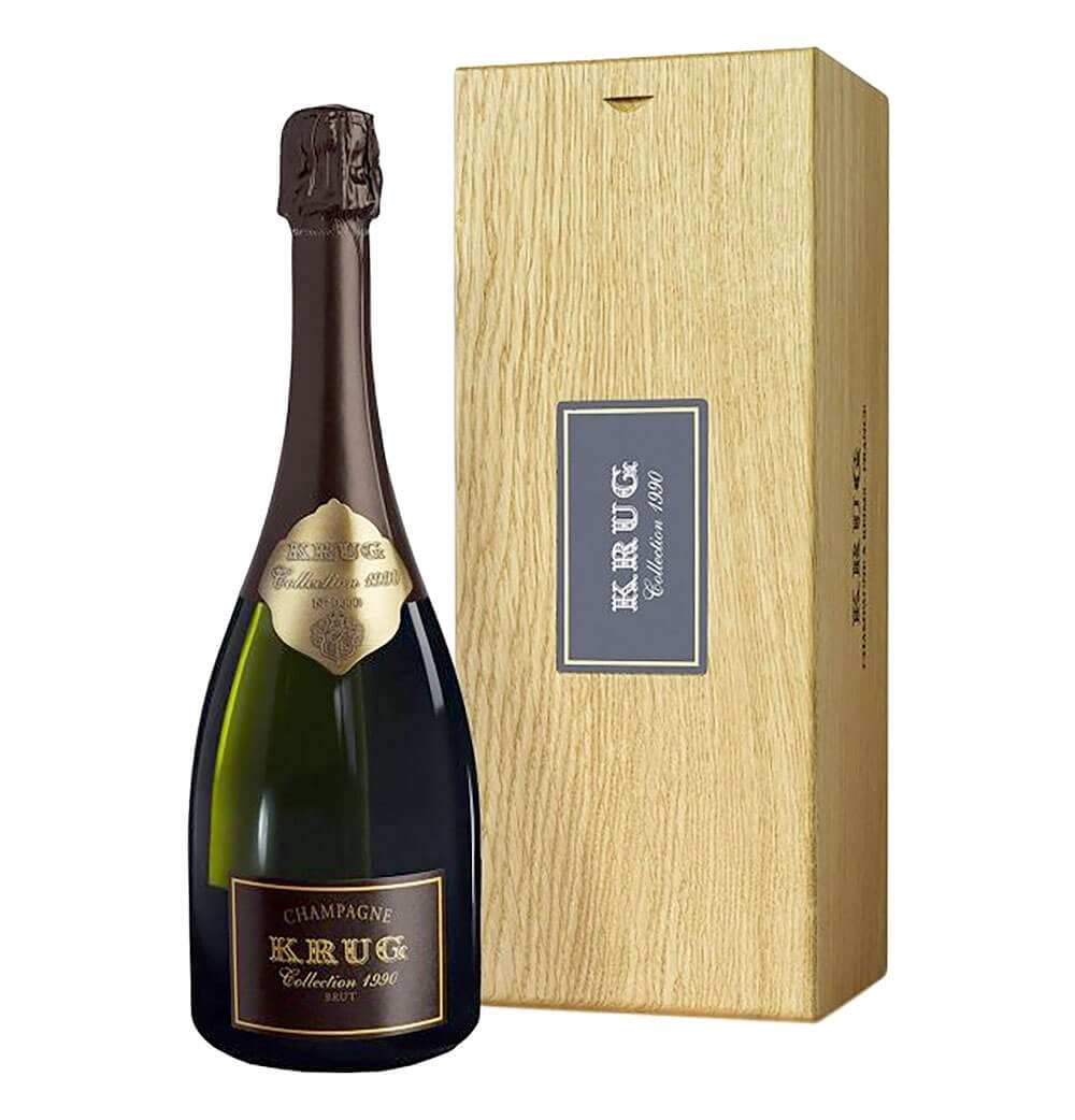 Krug Collection 1990, bottle and package