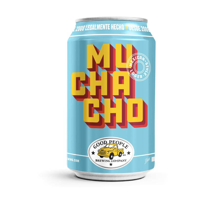 Muchacho Mexican Style Lager, can on white