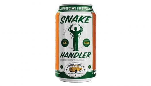 "Good People Brewing Releases ""Snake Handler"" Double IPA in Cans"
