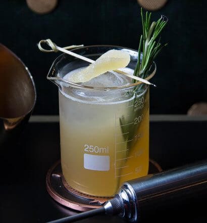 The Peaty Penicillin Cocktail, featured image