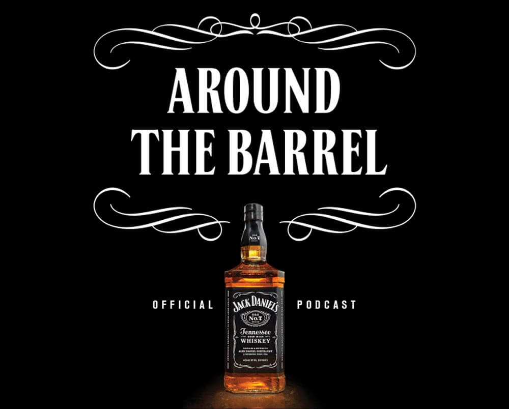 Around the Barrel with Jack Daniel's, promo banner on black