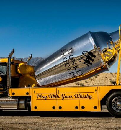 The Monkey Mixer, shaker on transfer truck, featured image