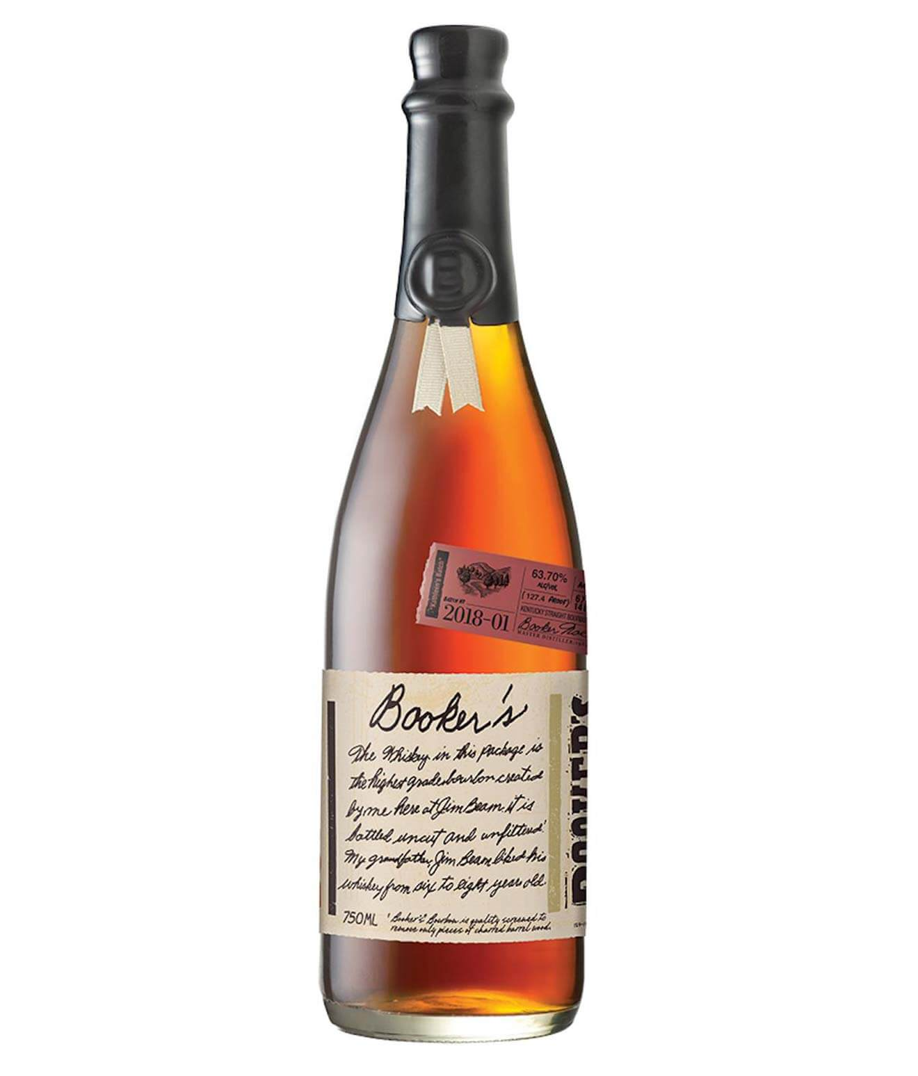 "Booker's ""Kathleen's Batch"", bottle on white"