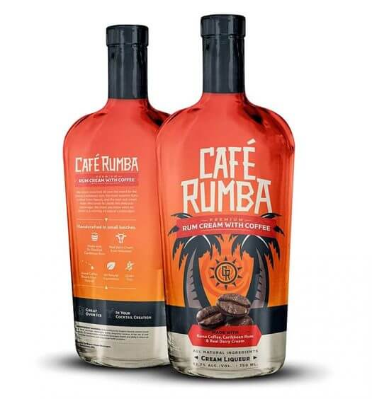 Café Rumba Rum Cream with Coffee, bottles on white, featured image