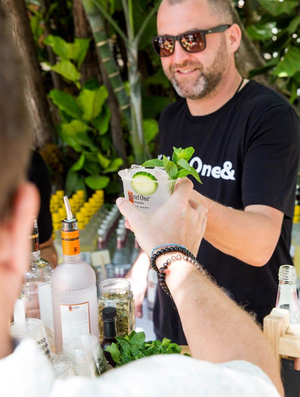 Guests-enjoy-Ketel-Soda-cocktails-at-New-Taste-of-South-Beach-hosted-by-Ketel-One-Family-Made-Vodka,-Wine-N-Dine,-Chef-JJ-Johnson-at-The-Versace-Mansion_