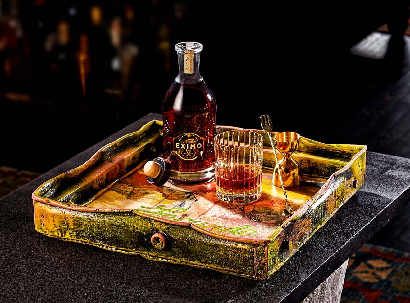Luxury Bar Tray for FACUNDO Rum Collection