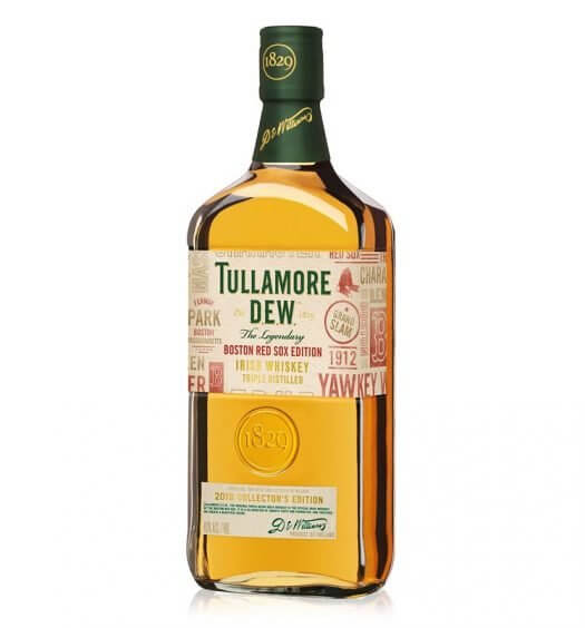Tullamore D.E.W. Limited-Edition Boston Red Sox Bottle, bottle on white, featured image
