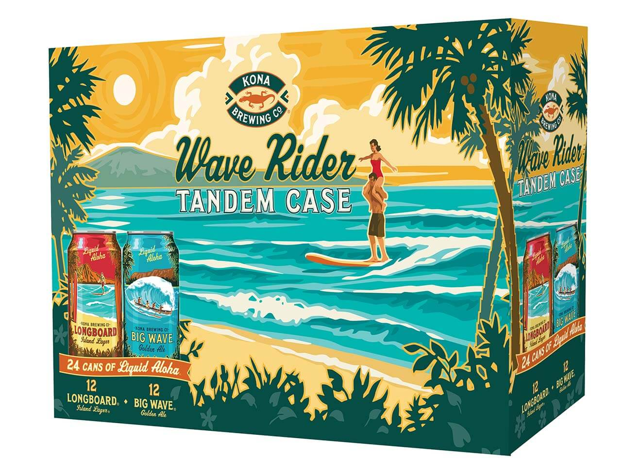 Wave Rider Tandem Case, case packaging on white