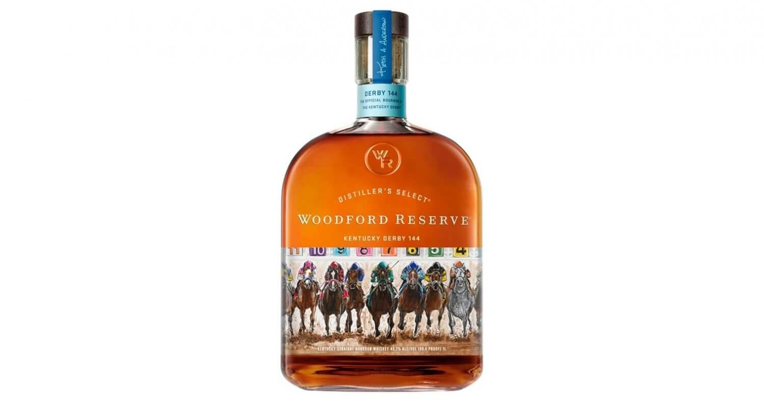 Woodford Reserve 2018 Kentucky Derby Bottle, on white, featured image