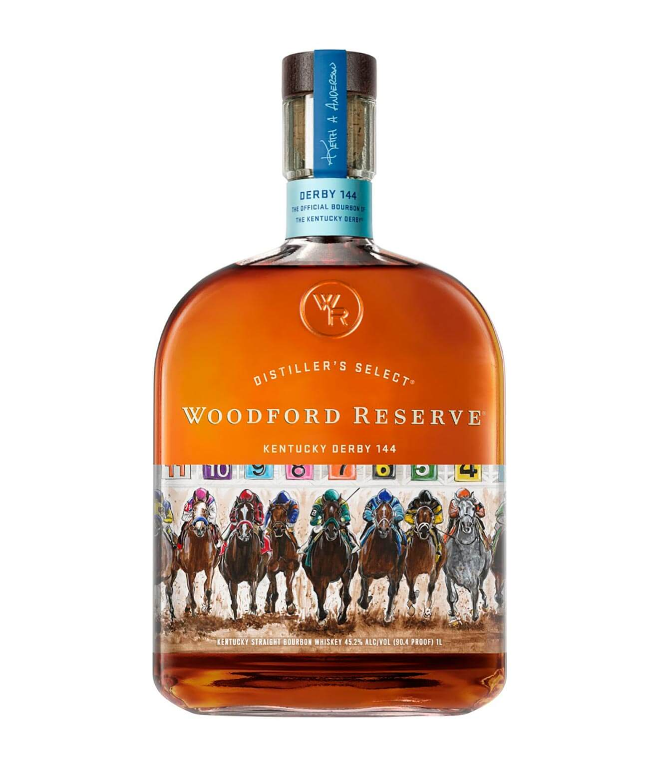 Woodford Reserve 2018 Kentucky Derby Bottle, bottle on white