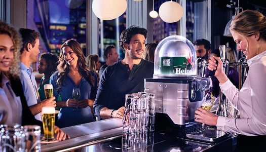"Heineken ""Blade"" Tabletop Draught System Makes Debut at Tribeca Film Festival"