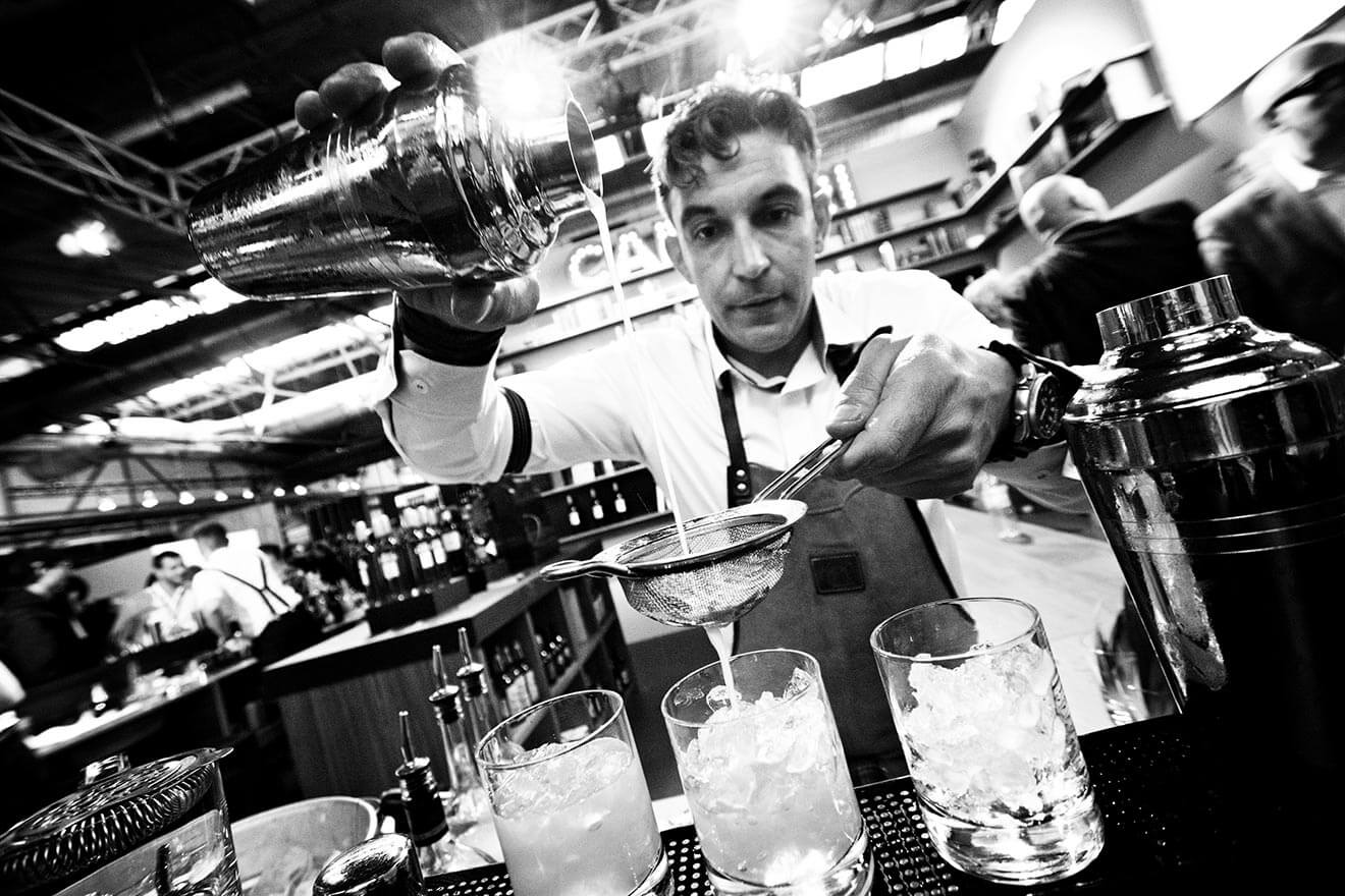 Bar Convent Brooklyn, mixologist black and white