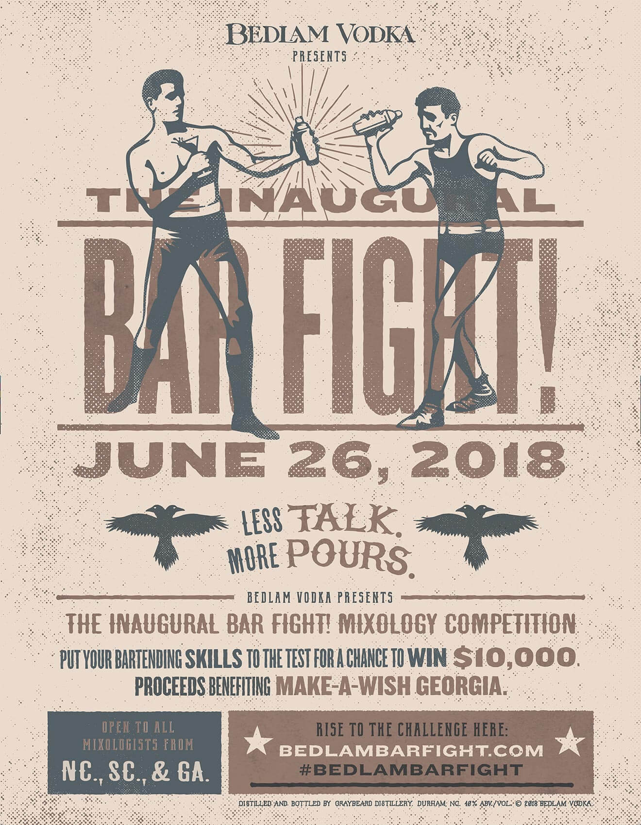 The Inaugural Bar Fight Competition, ad campaing poster