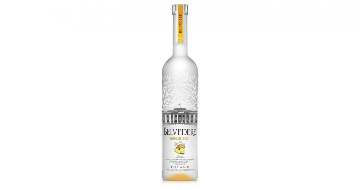Belvedere Vodka Launches Ginger Zest, bottle on white