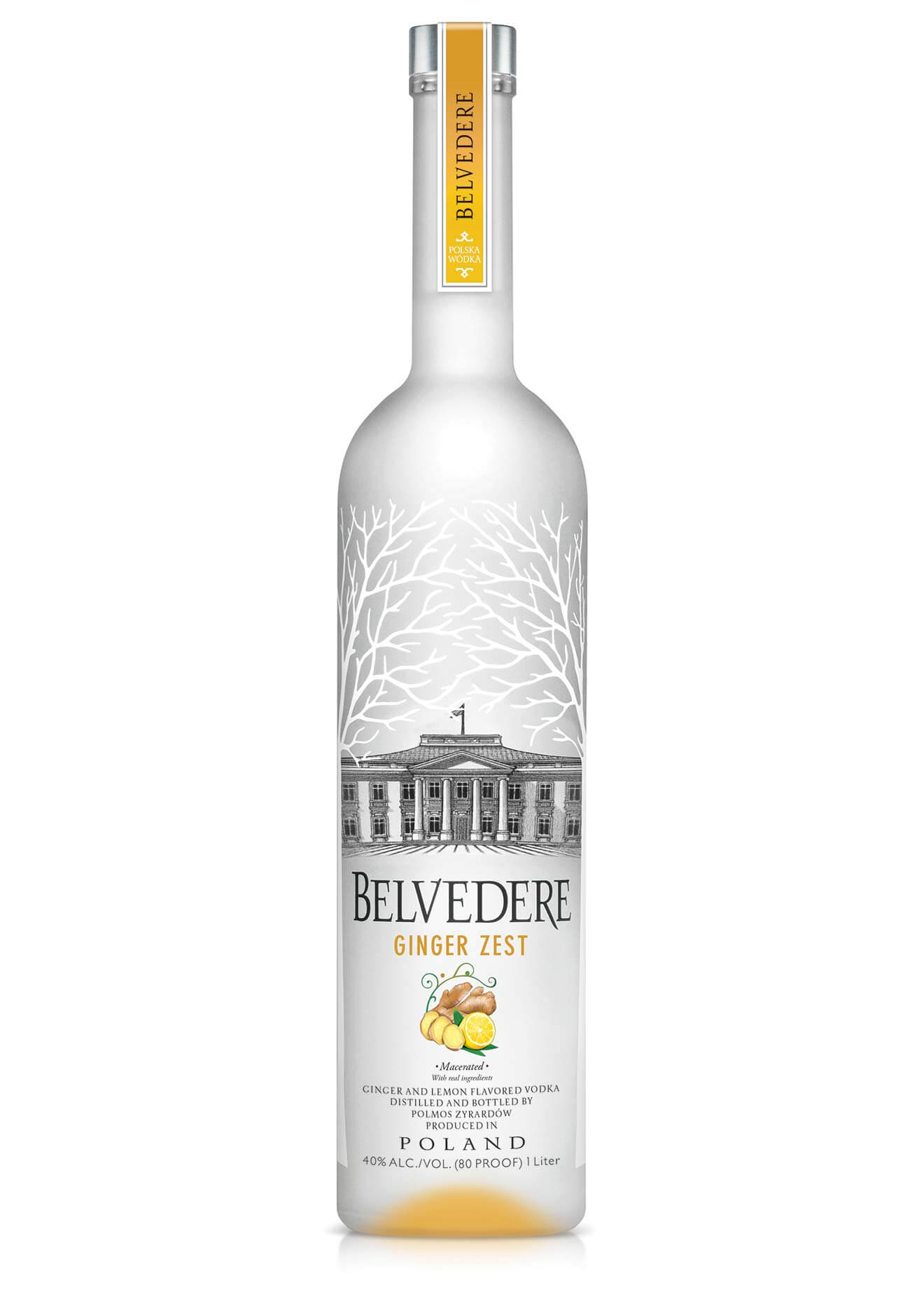 Belvedere Vodka Launches Ginger Zest, bottle on white, featured image