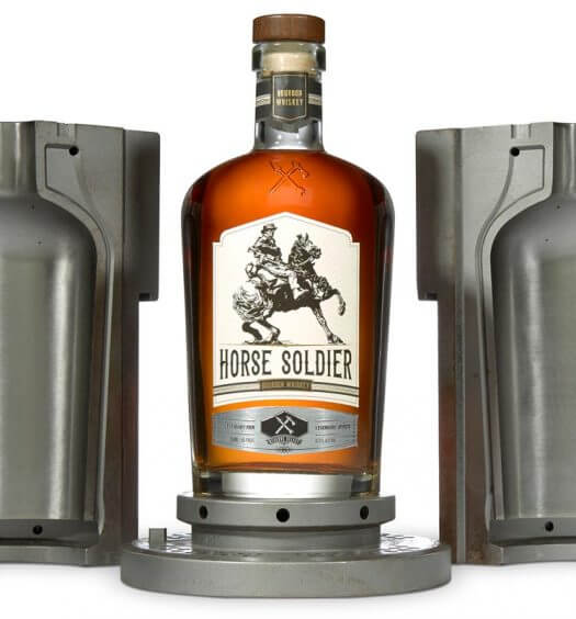 Horse Soldier Signature Bourbon, bottle and mold on white, featured image