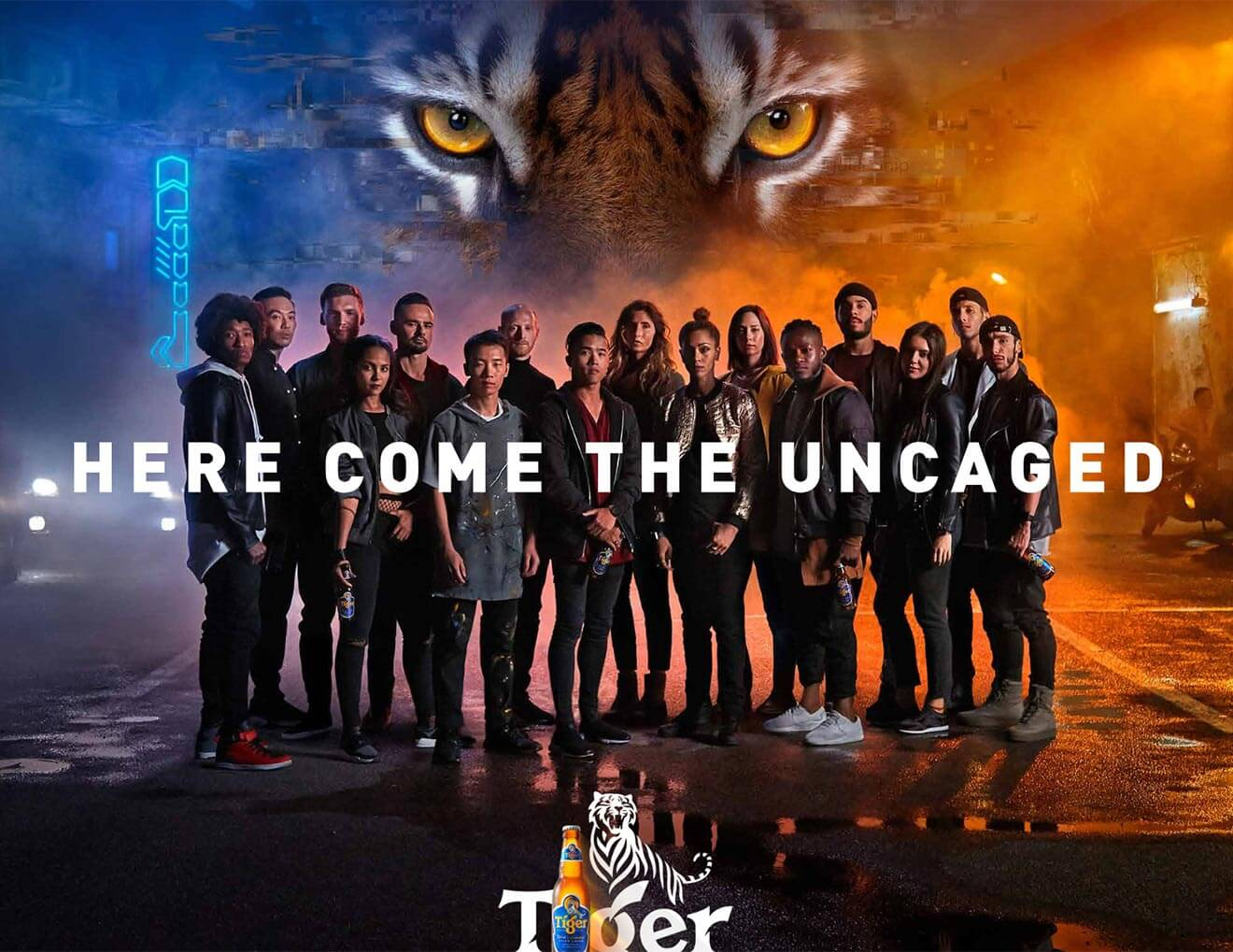 Tiger Uncaged, brand campaign poster