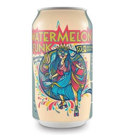 21st Amendment Watermelon Funk, can on white, featured image