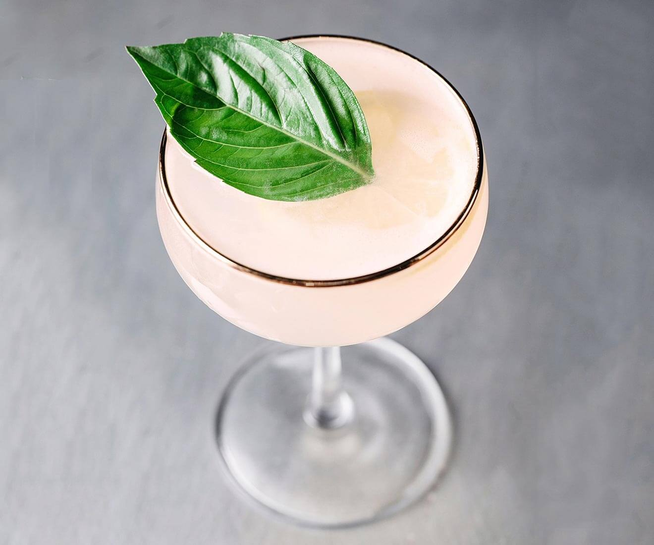 Basil & Grapefruit cocktail