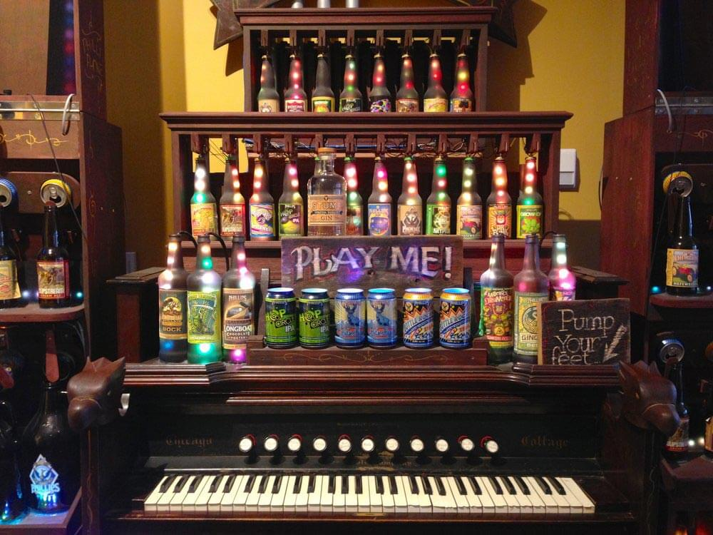 Beer Bottle Organ at Phillips Fermatorium
