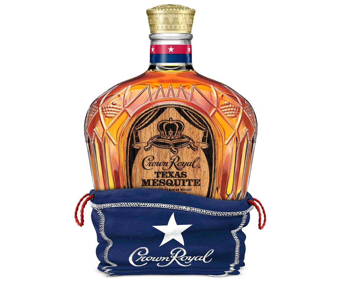 Crown Royal Limited Edition Texas Mesquite, bottle on white