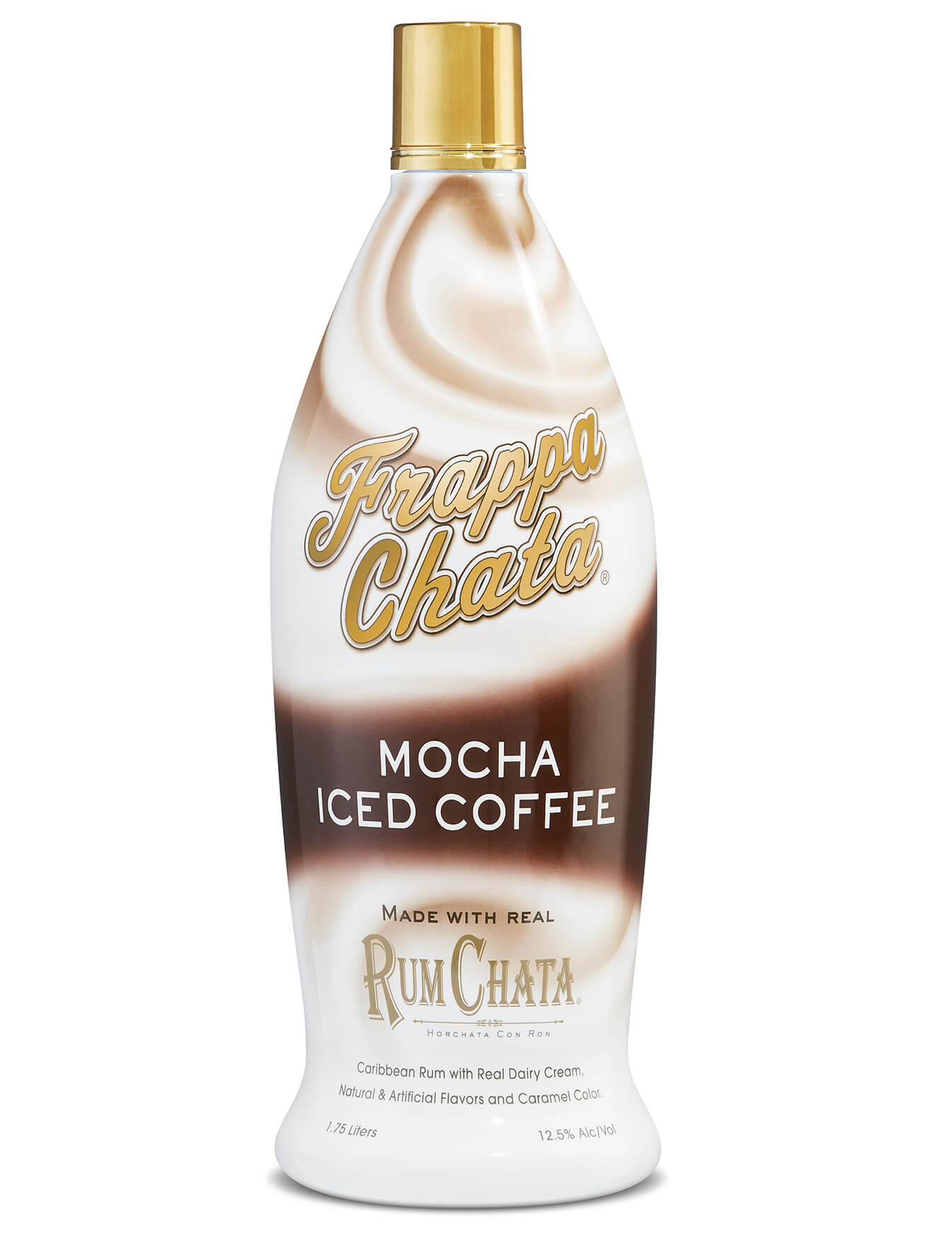 FrappaChata Iced Coffee Mocha Flavor, bottle on white